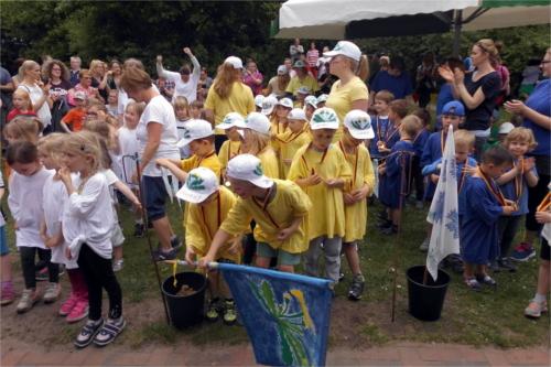 Fairness und Gruppengefühl: Kita Unter'm Regenbogen veranstaltet Kinderolympiade
